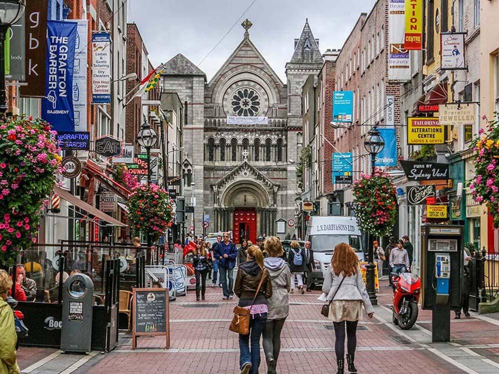 Shoppers on Grafton Street. Dublin, Ireland. Getty Images